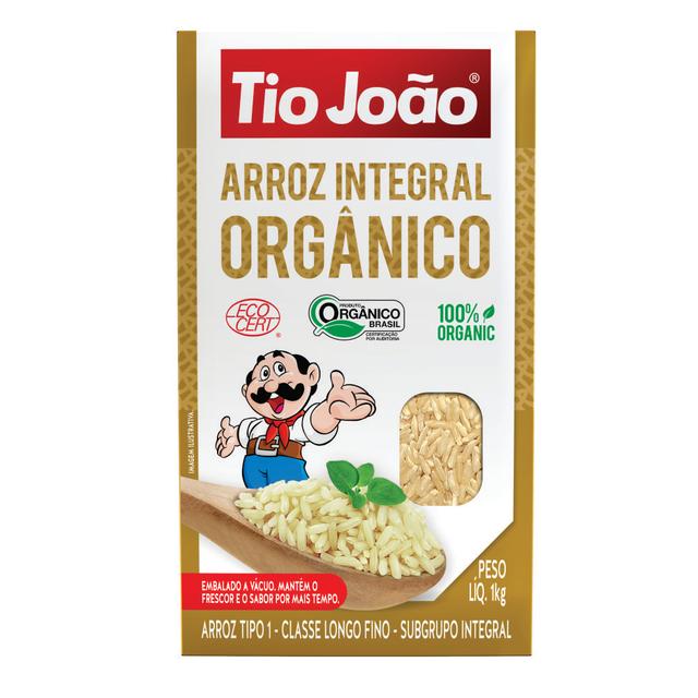 7893500034827 - ARROZ INTEGRAL ORGÂNICO TIO JOÃO 1KG