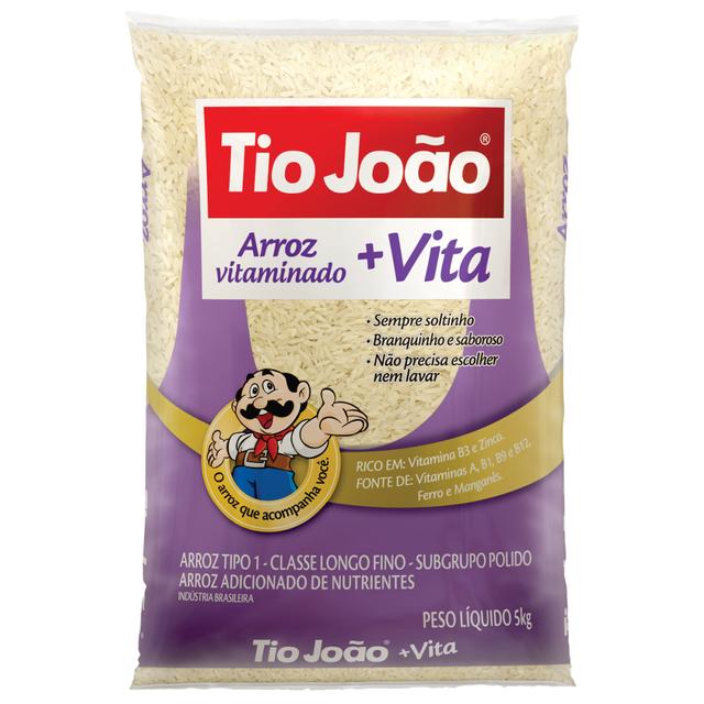 7893500035466 - ARROZ VITAMINADO TIO JOÃO + VITA TIPO 1 - 5KG