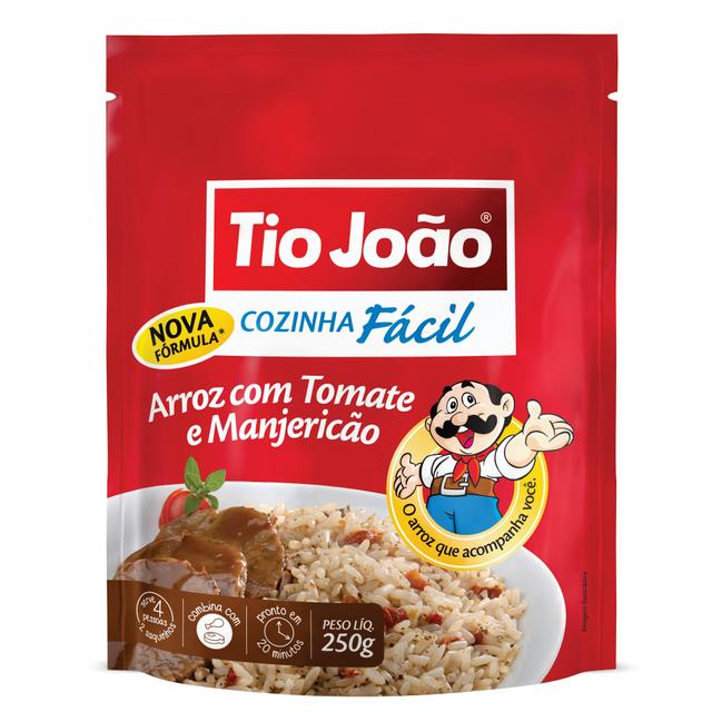 7893500044413 - ARROZ COM TOMATE E MANJERICÃO TIO JOÃO COZINHA FÁCIL 250G