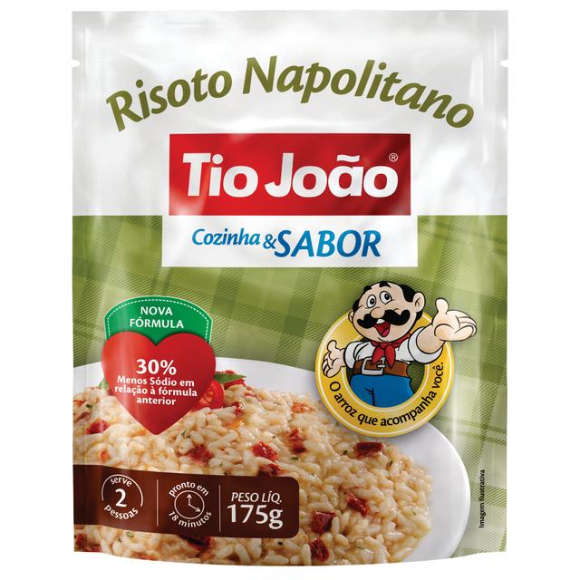 7893500044420 - ARROZ TIO JOÃO RISOTO NAPOLITANO COZINHA & SABOR 175G
