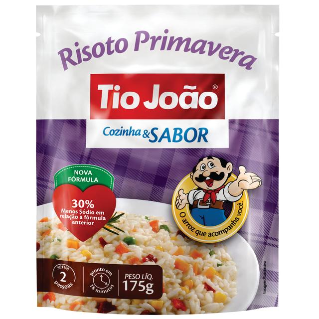 7893500050063 - ARROZ TIO JOÃO RISOTO PRIMAVERA COZINHA & SABOR 175G