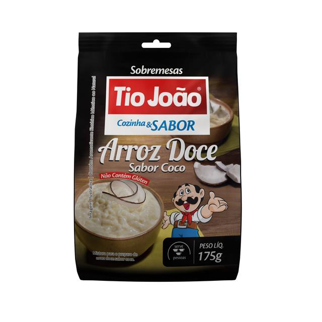 7893500083146 - ARROZ DOCE SABOR COCO TIO JOÃO COZINHA & SABOR 175G