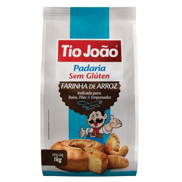 7893500085768 - FARINHA DE ARROZ TIO JOÃO 1KG
