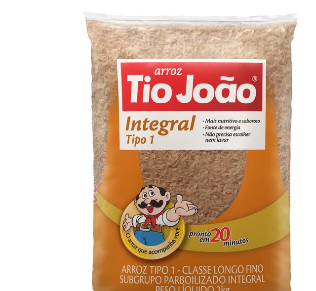 7893500089070 - ARROZ INTEGRAL TIO JOÃO TIPO 1 2KG