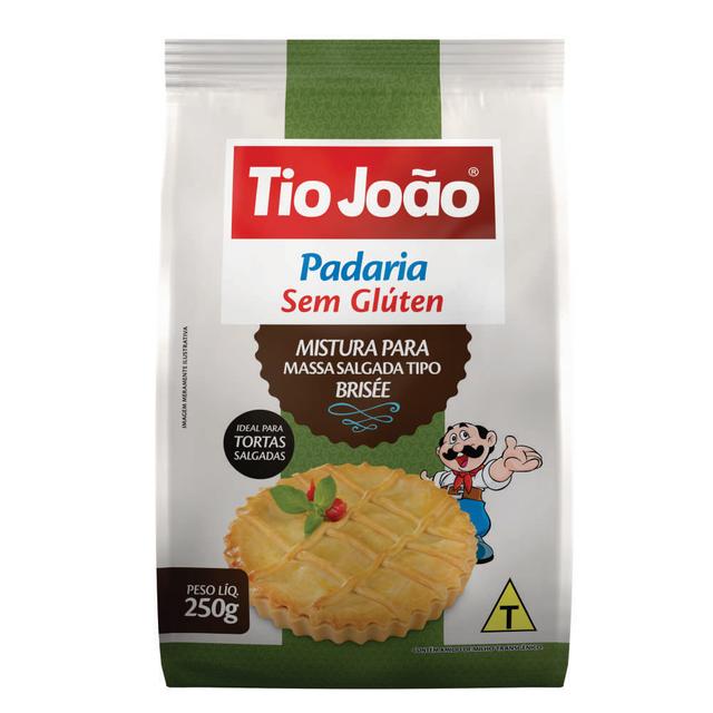 7893500090847 - MISTURA PARA MASSA SALGADA TIO JOÃO PADARIA SEM GLÚTEN 250G