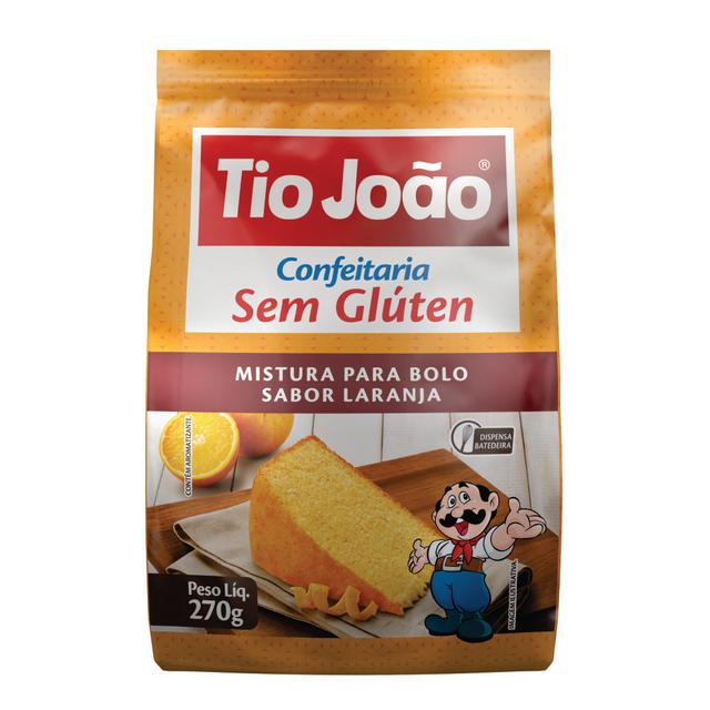 7893500104940 - MISTURA PARA BOLO TIO JOÃO SABOR LARANJA 270G