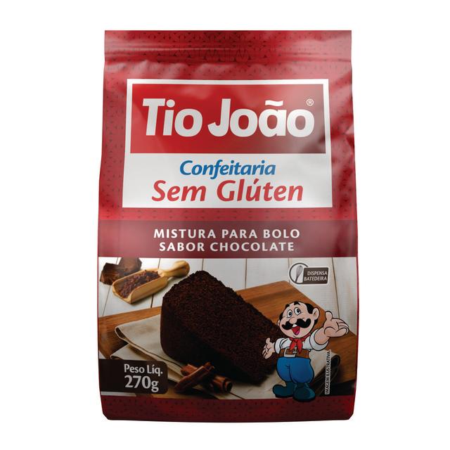 7893500104988 - MISTURA PARA BOLO TIO JOÃO SABOR CHOCOLATE 270G