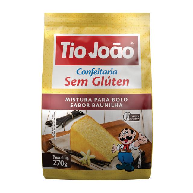 7893500105015 - MISTURA PARA BOLO TIO JOÃO SABOR BAUNILHA 270G