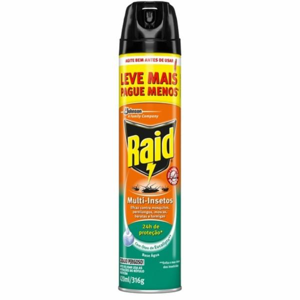 7894650003848 - INSETICIDA RAID MULTI EUCALIPTO GTS 150ML