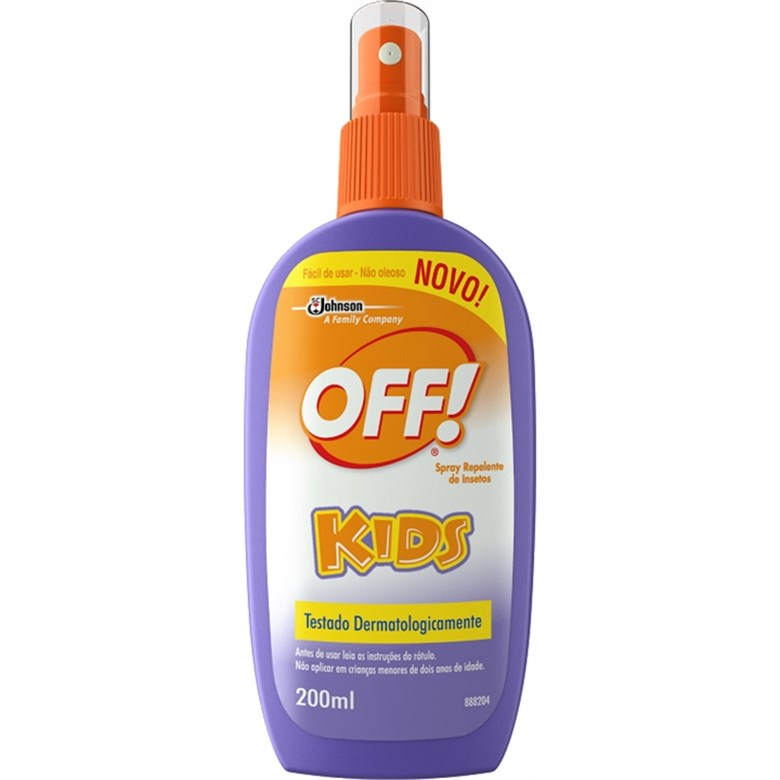 7894650012826 - REPELENTE SPRAY OFF! KIDS FRASCO 200ML