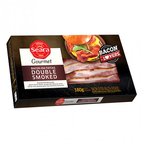 7894904097296 - BACON DOUBLE SMOKED SEARA 180G FATIAS