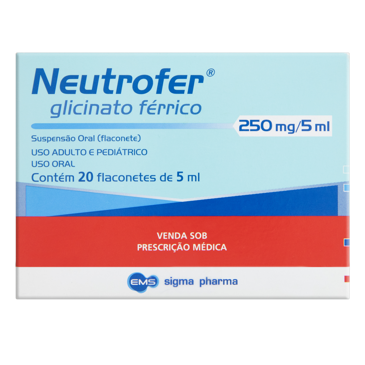 7894916500289 - NEUTROFER 250 MG/ML 20 FLACONETES 5 ML SIMILAR