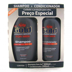 7896000715326 - KIT SHAMPOO 300ML + CONDICIONADOR 200ML NIELY GOLD FOR MEN