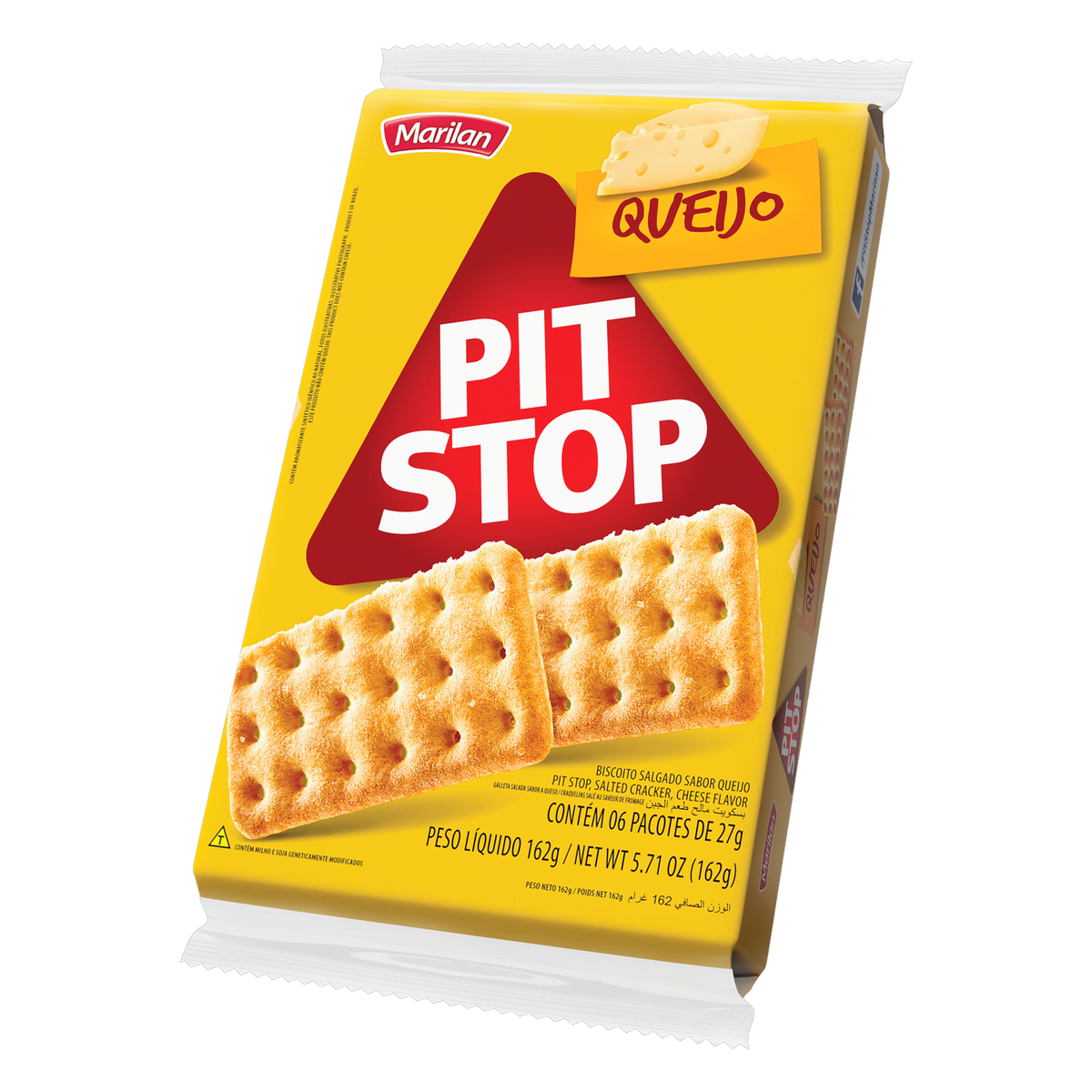 7896003706581 - PACK BISCOITO QUEIJO MARILAN PIT STOP PACOTE 162G 6 UNIDADES