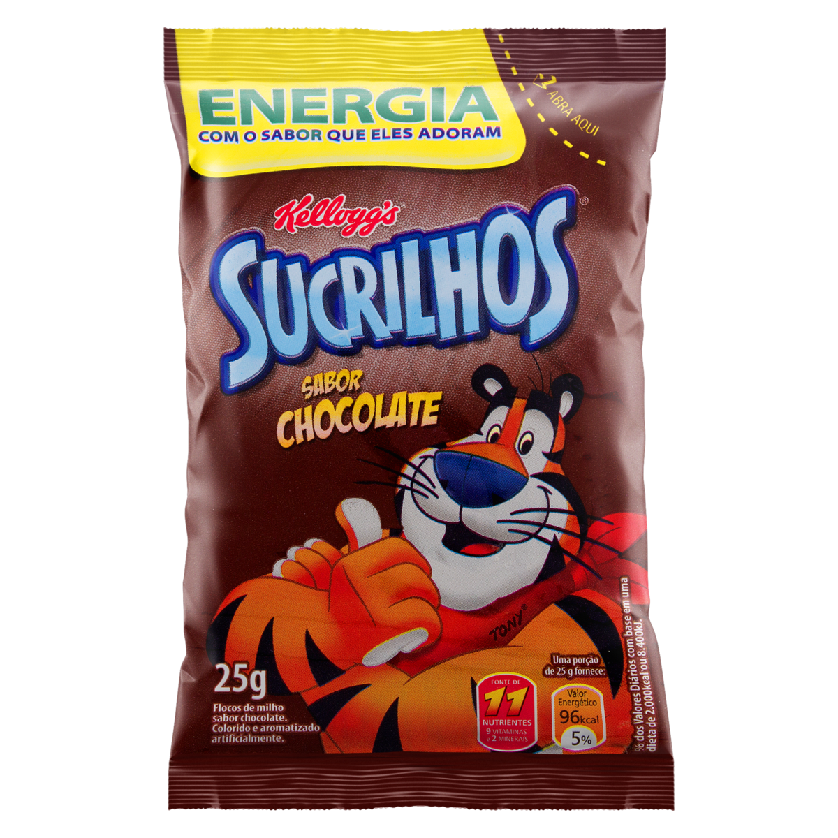 7896004003825 - CEREAL MATINAL CHOCOLATE KELLOGGS SUCRILHOS PACOTE 25G