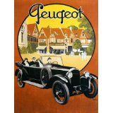 7896006210948 - PEUGEOT FRENCH OLD CAR FRANCE 16 X 24 IMAGE SIZE VINTAGE POSTER REPRO ON CANVAS