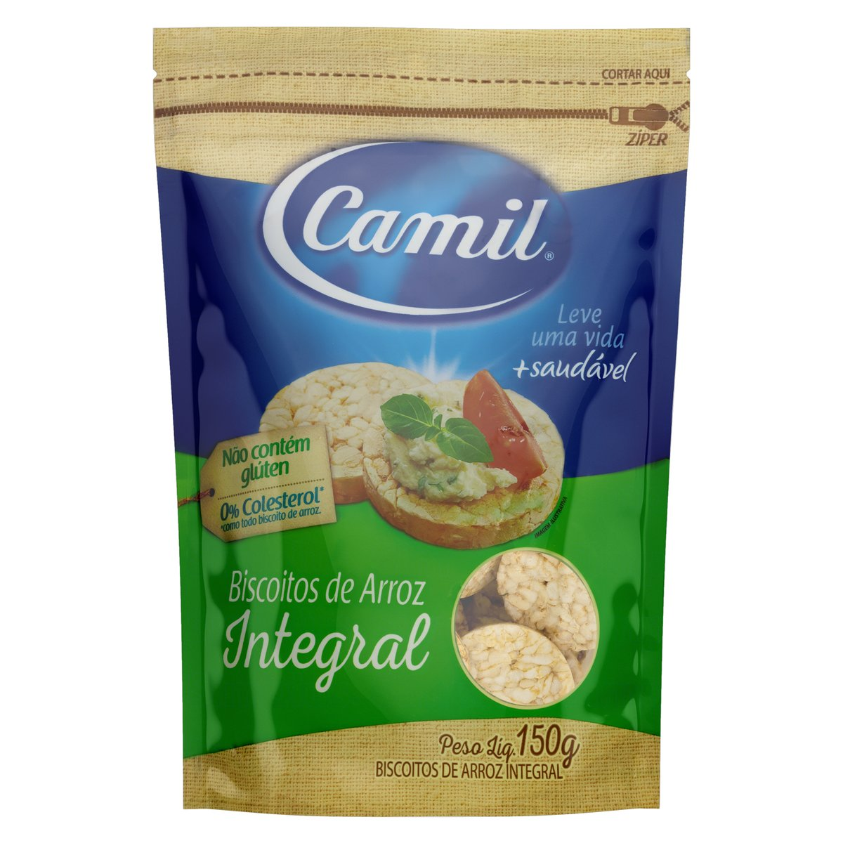 7896006779674 - MINI BISCOITO DE ARROZ INTEGRAL CAMIL