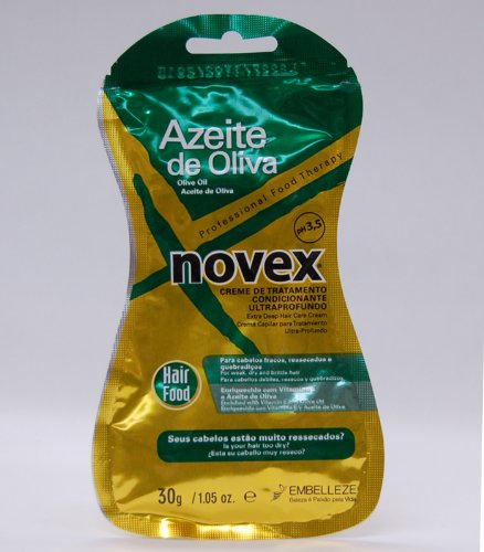 7896013549055 - NOVEX OLIVE OIL (AZEITE DE OLIVA) EXTRA DEEP HAIR CARE CREAM 30G PACKETT