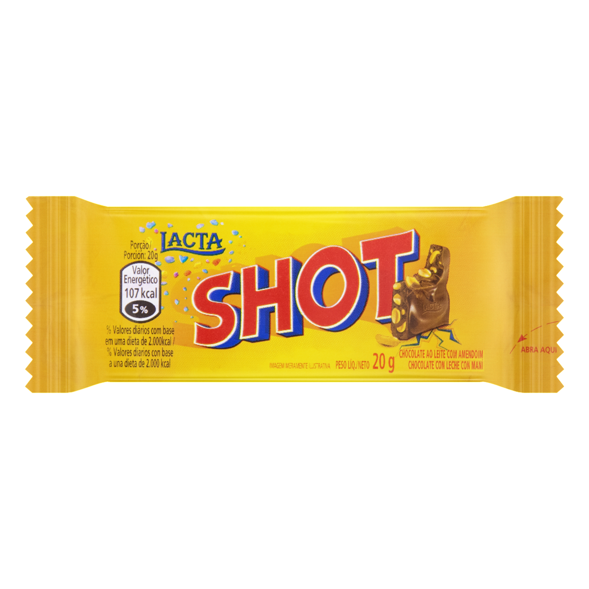 7896019355216 - CHOCOLATE LACTA SHOT