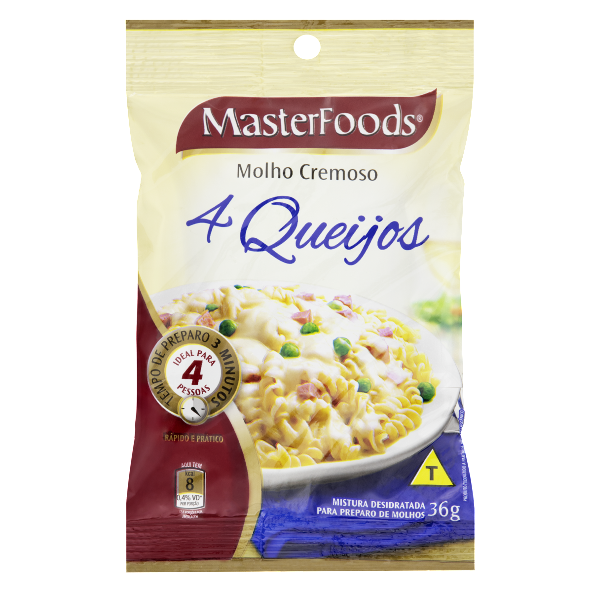 7896029027585 - MOLHO CREMOSO 4 QUEIJOS MASTERFOODS PACOTE 36G