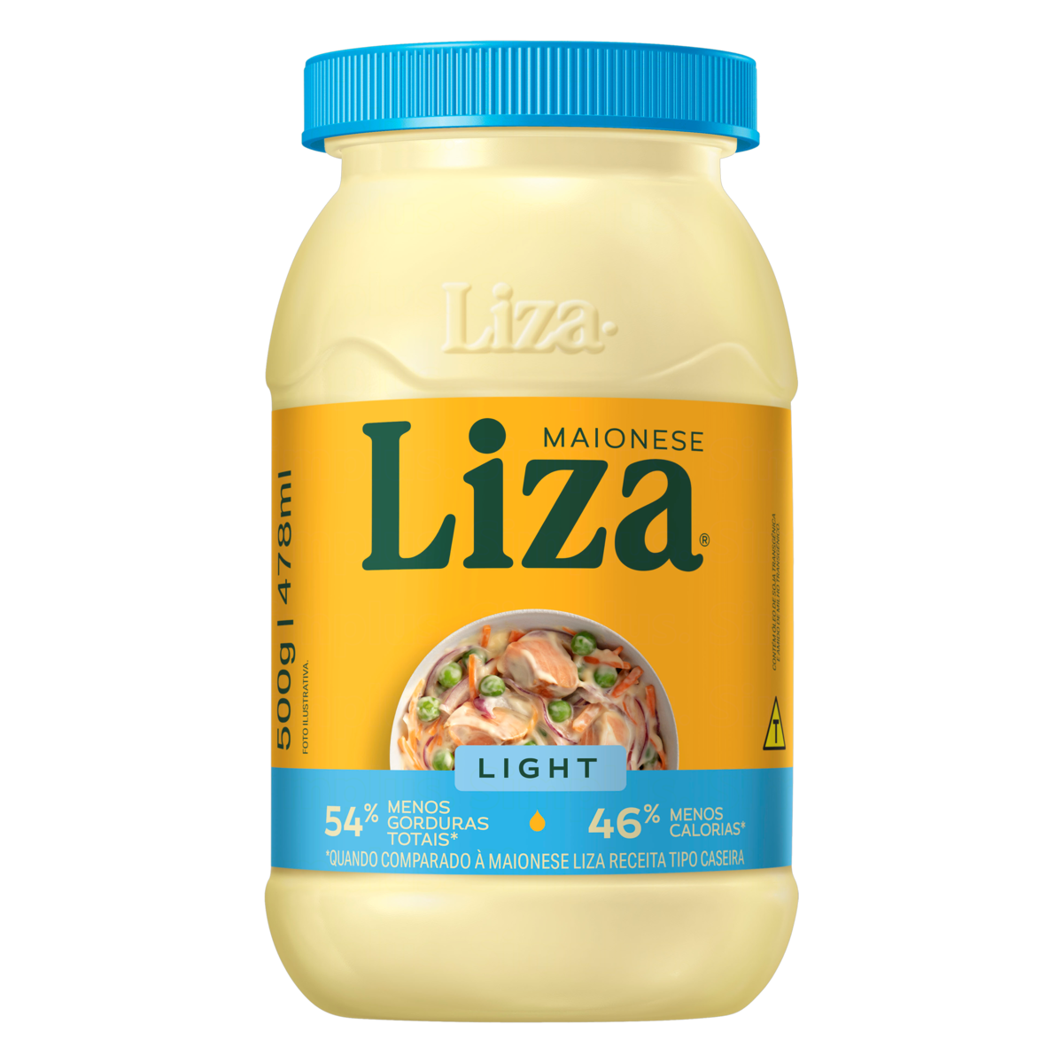 7896036091333 - MAIONESE LIGHT LIZA POTE 500G
