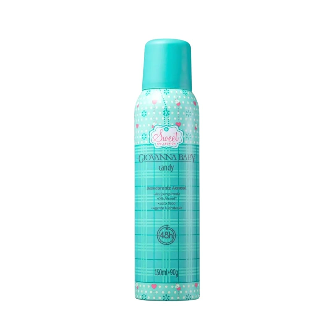 7896044953562 - DESODORANTE AEROSSOL ANTIPERSPIRANTE CANDY GIOVANNA BABY SWEET COLLECTION 150ML