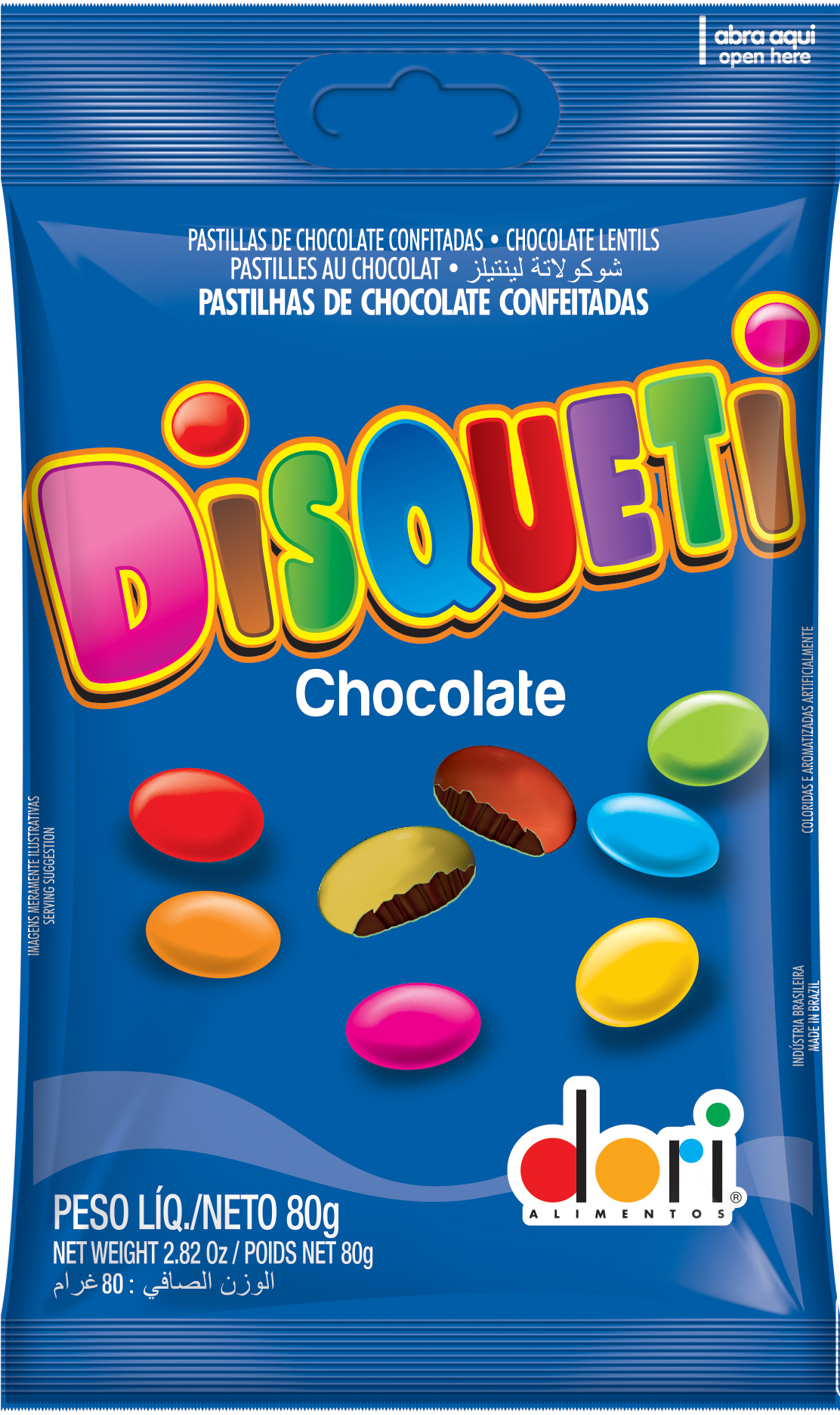 7896058500806 - DISQUETI DORI CHOCOLATE