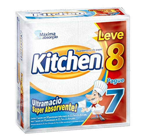 7896061934339 - GUARDANAPO KITCHEN 23,5X22,0 LEVE 8 PAGUE 7