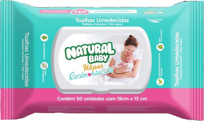7896064431231 - TOALHA NATURAL BABY WIPES RN C/50
