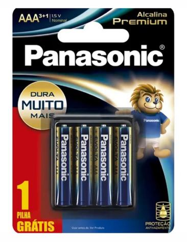 7896067204030 - PILHA PANASONIC AAA POWER 3+1