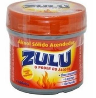 7896090708307 - ALCOOL SOLIDO ZULU TABLET ACENDEDOR