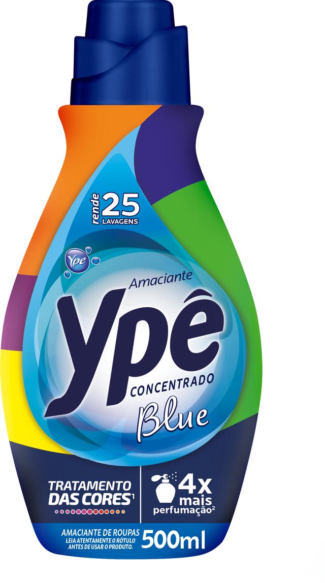 7896098900390 - AMACIANTE DE ROUPA CONCENTRADO BLUE YPÊ FRASCO 500ML