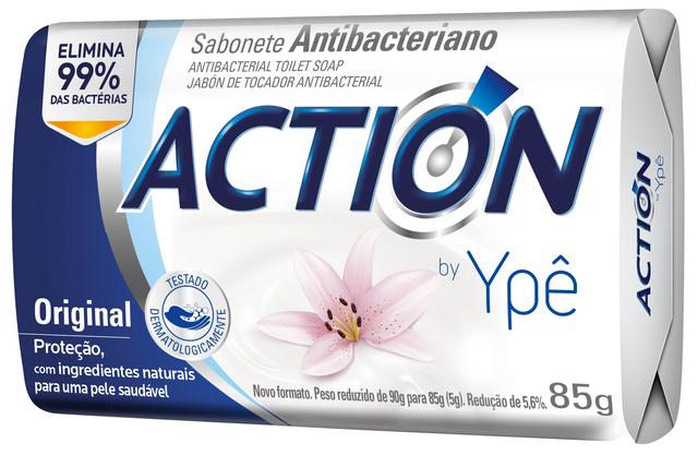 7896098909652 - SABONETE ACTION BY YPÊ ORIGINAL BRANCO 85G