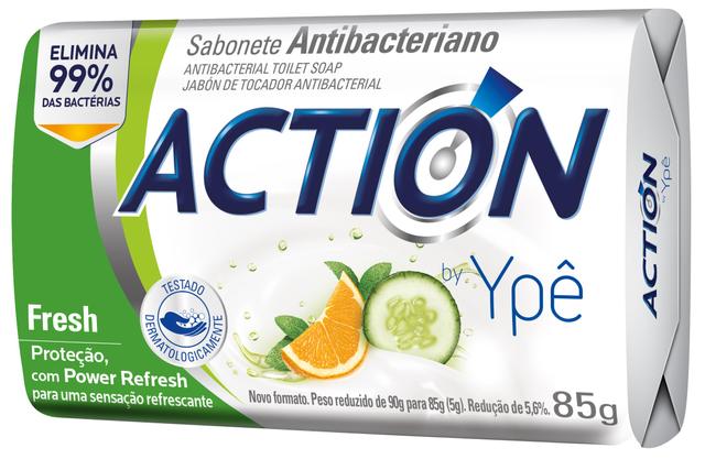 7896098909676 - SABONETE ACTION BY YPÊ FRESH VERDE 85G