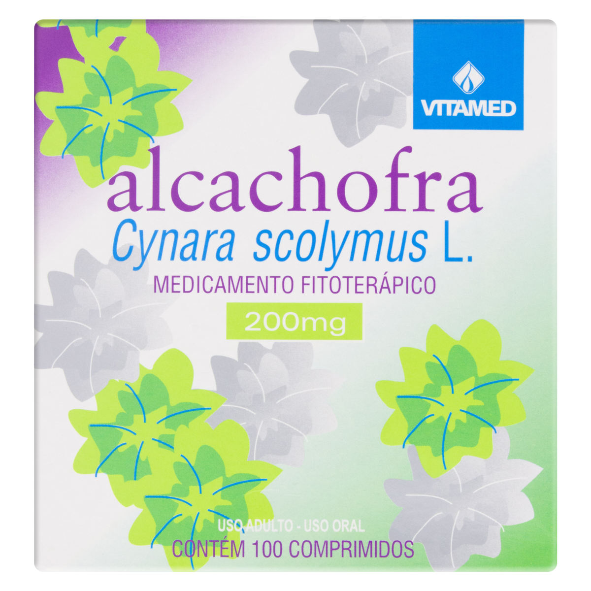 7896202500188 - ALCACHOFRA 200MG PURA 100CPR VITAMED