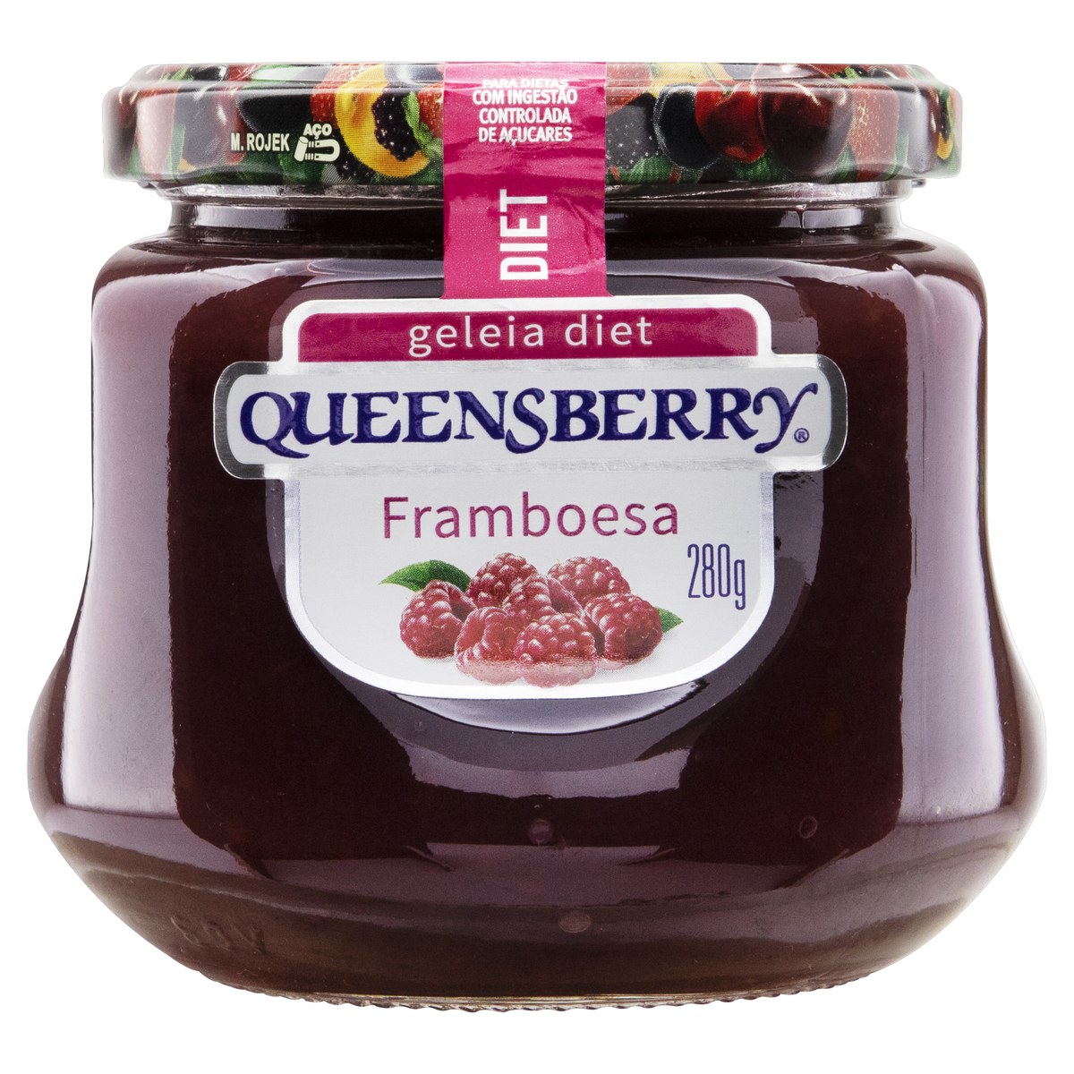 7896214533013 - GELEIA FRAMBOESA DIET QUEENSBERRY VIDRO 280G