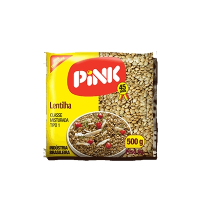 7896229600250 - LENTILHA TIPO 1 PINK PACOTE 500G