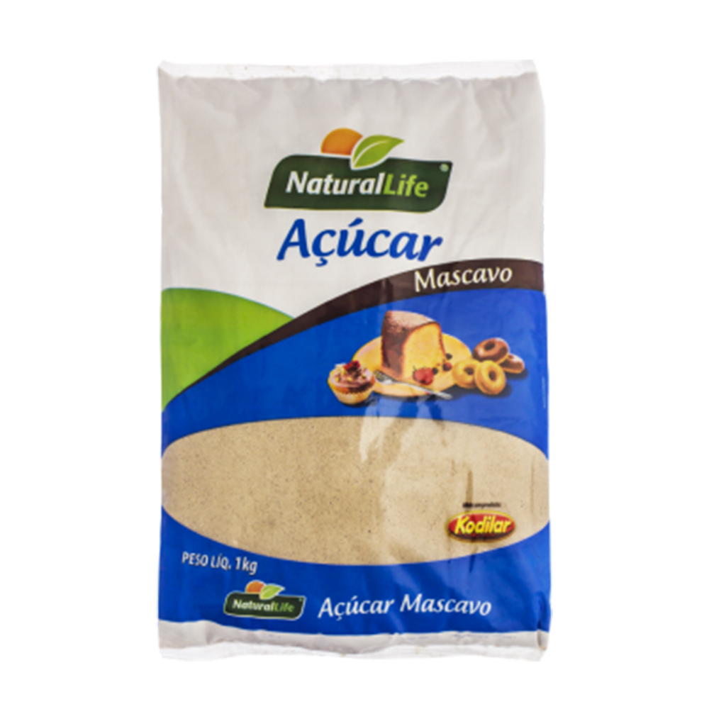 7896256040203 - ACUCAR MASCAVO NATURAL LIFE 1KG