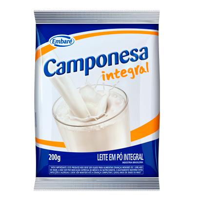 7896259410133 - LEITE EM PÓ INTEGRAL CAMPONESA – 200G