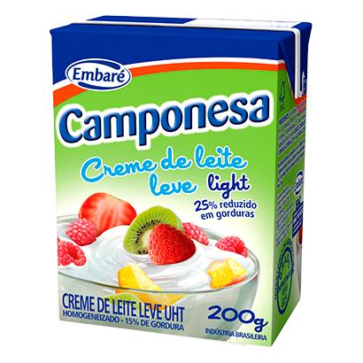 7896259411802 - CREME DE LEITE CAMPONESA LIGHT – 200G