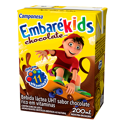 7896259411819 - BEBIDA LÁCTEA EMBARÉKIDS CHOCOLATE – 200ML