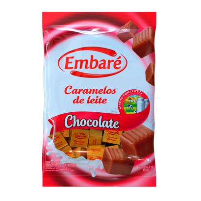 7896259411956 - CARAMELO MEIO A MEIO SABOR LEITE E CHOCOLATE – 150G EMBARÉ