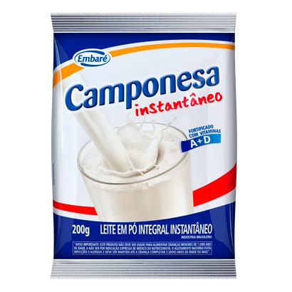 7896259412267 - LEITE EM PO INSTANTANEO CAMPONESA 200G