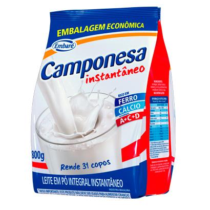 7896259415367 - LEITE EM PÓ INTEGRAL INSTANTÂNEO CAMPONESA – 800G