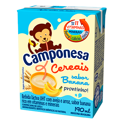 7896259415909 - BEBIDA LÁCTEA CAMPONESA CEREAIS BANANA – 190ML