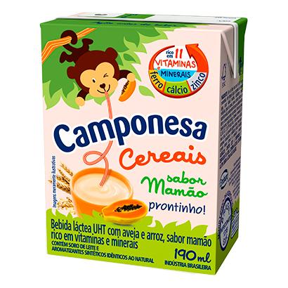 7896259415916 - BEBIDA LÁCTEA CAMPONESA CEREAIS MAMÃO – 190ML