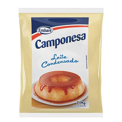 7896259417279 - LEITE CONDENSADO BAG CAMPONESA FOOD SERVICE 2,5KG