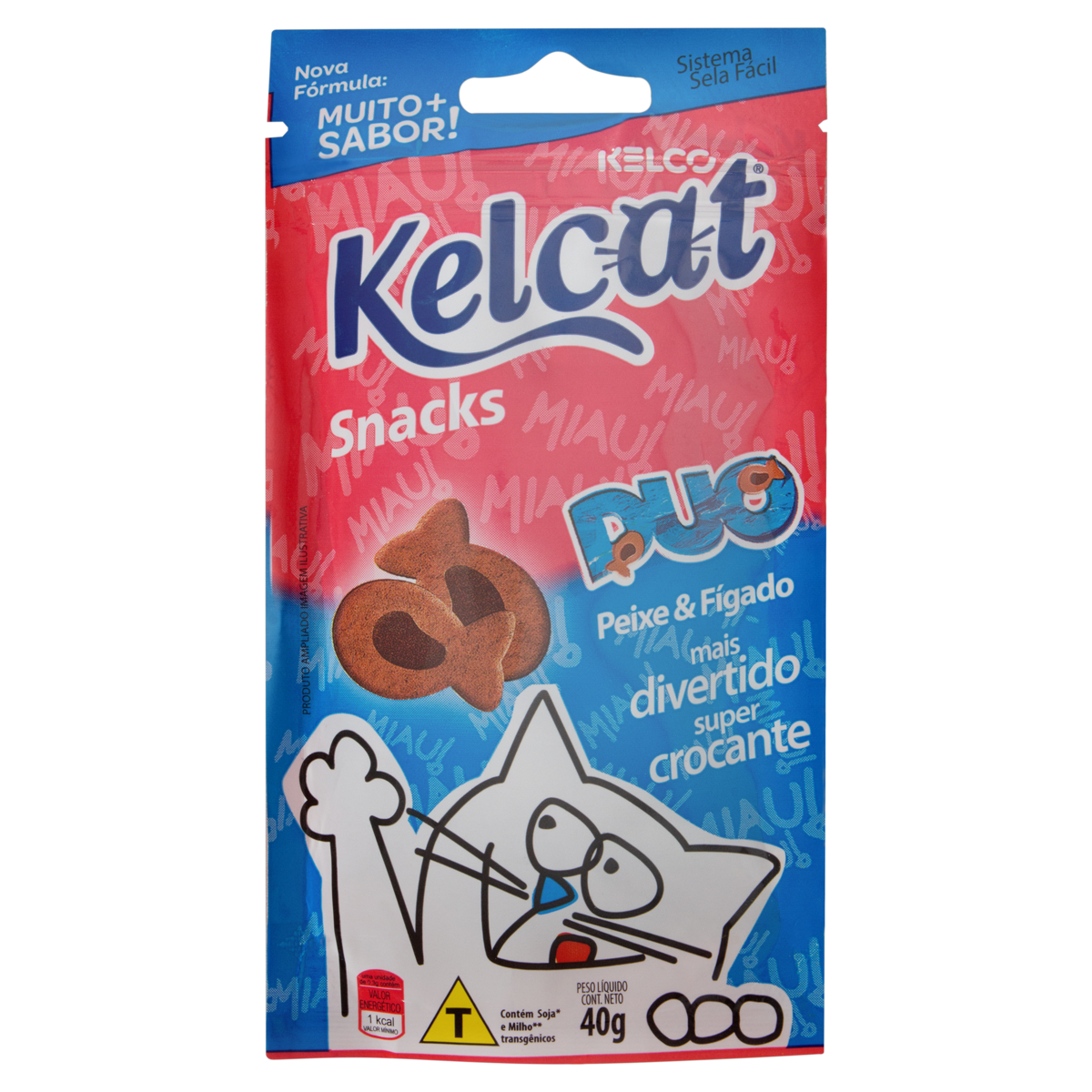 7896273806134 - SNACKITOS KELCAT DUO PXE/FIG 40GR