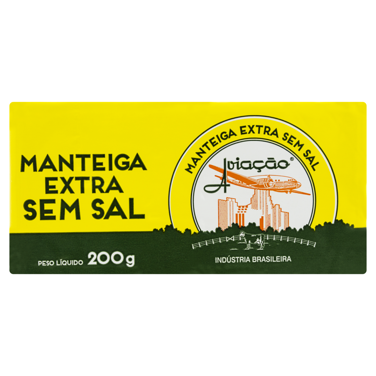 7896331100136 - MANTEIGA SEM SAL AVIAÇÃO TABLETE 200G