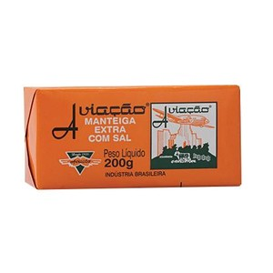 7896331100143 - MANTEIGA COM SAL AVIAÇÃO TABLETE 200G